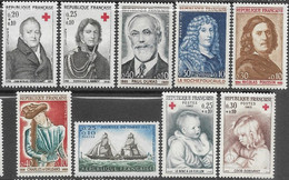 France  1964-5   Sc#B385-93  9 Charities  MLH  2016 Scott Value $3.85 - Unused Stamps