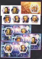Einstein Newton Curie Pasteur Galilei Faraday Aristote - MNH** - F100 - Altri