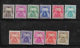France Timbres Taxes De 1943/46 N°67 A 77 Neufs * Tres Petite Trace De Charnière Tres Belle Gomme - 1859-1955.. Ungebraucht
