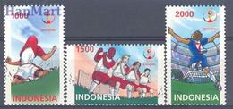 Indonesia 2002 Mi 2167-2169 MNH ( ZS8 INS2167-2169 ) - 2002 – Corée Du Sud / Japon