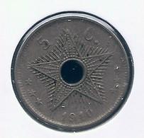CONGO - ALBERT II * 5 Cent 1910 * Z.Fraai * Nr 10136 - 1910-1934: Albert I
