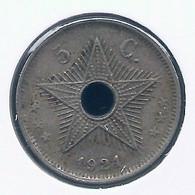 CONGO - ALBERT II * 5 Cent 1921 * Z.Fraai * Nr 10141 - 1910-1934: Albert I