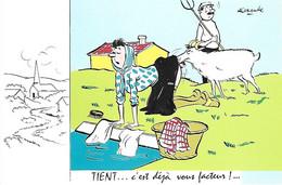 Humour Humoristes - VERTES CAMPAGNES - Tient... C'est Déjà Vous Facteur -  Lavandière Chèvre Bouc - Alexandre - - Humour