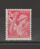 FRANCE / 1944 / Y&T N° 654 : Iris 2F40 - Choisi - Cachet Rond - Gebruikt