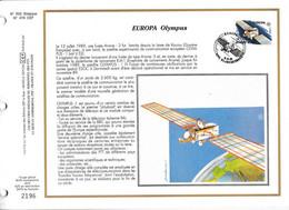 Feuillet Tirage Limité CEF 592 2406 Europa Olympus Satellite De Communications Blankenberge - Hojas