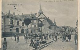 CPA (c) 67 - Bischofsheim  I. Els..  (Bischoffsheim) Platz Mit Rathaus Avec Belle Animation-Envoi Gratuit - Sonstige Gemeinden