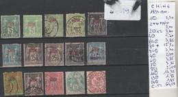 TIMBRES DE FRANÇE (ex-colonies & Protectorats) > Chine (1894-1922) Nr VOIR SUR PAPIER AVEC TIMBRES COTE 170.85   € - Gebraucht