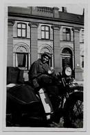 Moto Motor Motorrad Moteur Velomoteur Motorcycle Motorbike Pilote Fahrer Sidecar Beiwagen Zijspan Photo Foto - Motos
