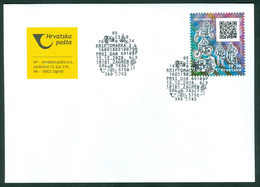 Croatia 2020 FDC Crypto 2nd Issue Stamp / Block Postal History - MOTIVE: Not Defined - Some Of Postman, Motor, Bicycle,. - Kroatië