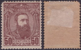 Congo 0009* Léopol II  H - 1884-1894 Precursori & Leopoldo II