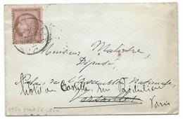 N° 54 CERES 10c BRUN ROSE SUR LETTRE / POUR VERSAILLES PUIS PARIS / 3 JUIN 1876 / CAD CHAMBRE DEPUTES VERSO - 1849-1876: Klassieke Periode