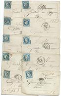LOT DE 10 LETTRES AVEC N° 60 BLEU CERES / ARRAS /  LOT 16 - 1849-1876: Klassieke Periode