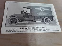 ESPERANTO RED CROSS FUND 1915 CROIX ROUGE DE BELGIQUE - Cruz Roja