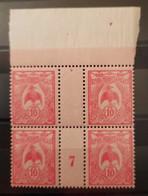 Nouvelle-Calédonie (New Caledonia) N°116 Bloc De 4 BdF Millésime 1927  **TB - Ungebraucht