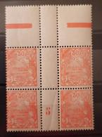 Nouvelle-Calédonie (New Caledonia) N°119 Bloc De 4 BdF Millésime 1925  **TB - Ungebraucht