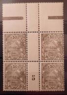 Nouvelle-Calédonie (New Caledonia) N°121bloc De 4 BdF Millésime 1925 **TB - Ungebraucht