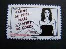 OBLITERE FRANCE ANNEE 2011 N° 540 SERIE FEMME DE TETE MAIS L'ESPRIT DE CORPS MISS TIC AUTOCOLLANT ADHESIF - Gebruikt