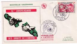 1958 - NOUVELLE CALEDONIE - YT 290 Sur ENVELOPPE 10 ANS DES DROITS DE L'HOMME ! OBLITERATION NOUMEA - Sin Clasificación