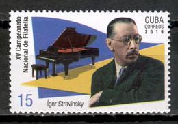 Cuba 2019  / Music Piano Composer Igor Stravinsky MNH Musik Música Compositor / Cu17309  29-28 - Musica