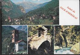 SALUTI DA TOUR D'HERERAZ - (VALLE DI GRESSONEY) - VALLE D'AOSTA - VIAGGIATA 1974 - Gruss Aus.../ Gruesse Aus...