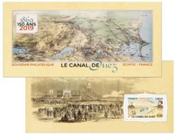 France 2019 - Yv N° 158 ** - Souvenir - Emission Commune - Egypte France - Le Canal De Suez - Souvenir Blocks