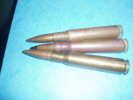 2040  3+1 Cartouches Mitrailleuse Cal 50 US 2° G M   Neutralisées Voir Description  Vente Retirée Le 03-01 - Decorative Weapons