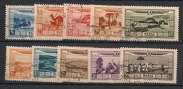 Maroc - 1928 - Poste Aérienne PA N°Yv. 12 à 21 - Série Complète - Oblitéré / Used - Luchtpost