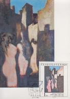 Carte  Maximum  1er  Jour    TCHECOSLOVAQUIE    Oeuvre  De    SIMA    1982 - Sin Clasificación