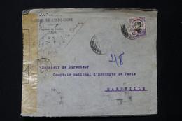 CANTON - Enveloppe Commerciale De Canton Pour Marseille En 1918 Avec Contrôle Postal  - L 82234 - Briefe U. Dokumente