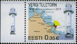 Estonia 2011 C3872 Vergi Lighthouse Michel 699 Yvert 649 - Lighthouses