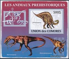 NB - [38482]TB//**/Mnh-Comores 2009 - BL1529, Bloc Spécial, Faune Préhistorique, Dinosaures, Ouranosaurus. - Preistorici
