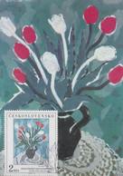Carte  Maximum  1er  Jour    TCHECOSLOVAQUIE    Oeuvre  De   SIMEROVA - MARTINCEKOVA    1987 - Sin Clasificación