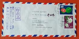 Taiwan, Formosa, Mi Nr. 509 + 539 Auf Luftpostbrief Nach Rastede - Briefe U. Dokumente