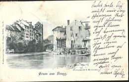 Gruss Aus Brugg CPA 1899 - AG Aargau