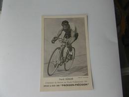Cyclisme - Carte Ferdi Kubler - Cycling