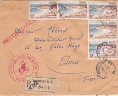 22158# ROYAN ENVELOPPE RECOMMANDE Obl BORDEAUX GIRONDE 1954 POITIERS VIENNE - 1921-1960: Moderne