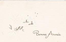 Voeux : Nouvel An : Bonne Année : Mignonette - Gaufrée  : Village Enneigé : Sans Référence : - Nieuwjaar