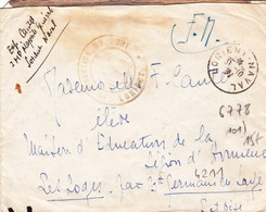 Franchise Militaire 1939 Lorient Morbihan Naval Direction Du Port - 2. Weltkrieg 1939-1945