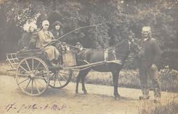 CARTE PHOTO  CARIOLLE PONEY  1912  Lieu à Identifier - Te Identificeren