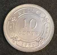 BELIZE - 10 CENTS 1980 - Elizabeth II - 1er Effigie - KM 35 - Belize