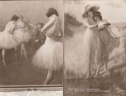 P.CARRIER BELLEUSE LES POINTES EN DEHORS (classe De L'opera) Et HESITATION J.K N°2460 Et 1536 - Schilderijen