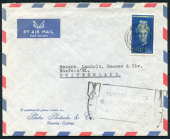 "1964 Cyprus Nicosia Airmail Cover - Switzerland ""Turkish Bombs"" Cachet - Otros"