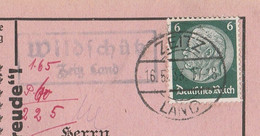 Deutsches Reich Karte Mit Landpoststempel Wildschütz Zeitz Land 1933 - Cartas