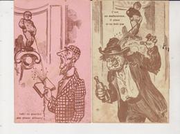 Belgique.Deux Cartes Humoristiqueq Sur  LeManneken Pis. - Personaggi Famosi