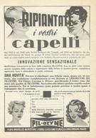 # PIL-OZYNE LOZIONE CAPELLI, ITALY 1950s Advert Pubblicità Publicitè Reklame Hair Cheveux Haar Beautè - Non Classificati