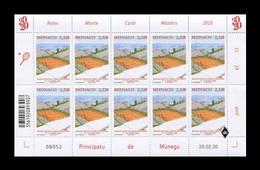 Monaco 2020 Mih. 3487 Tennis. Rolex Monte Carlos Masters (M/S) MNH ** - Unused Stamps