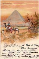 Thematiques Egypte Les Pyramides De Gizeh Souvenir De Timbre Taxe Cachet 07 06 1904 Superbe - Gizeh