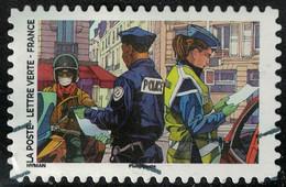 France 2020 Oblitéré Used Contre Le Covid Tous Engagés Gendarme Et Policier - Gebraucht