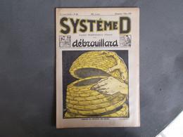 REVUE SYSTEME D.ANNEE 1926.CONSTRUIRE UNE RUCHE...PUBLICITES SUR LA DERNIERE PAGE.ETC....... - Basteln