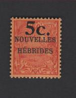 Faux Nouvelle-Hébrides N° 58A, Gomme Charnière - Nuovi